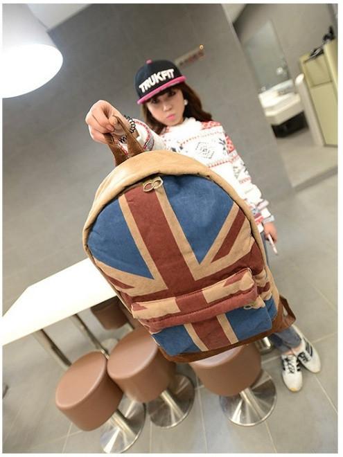Модный рюкзак. Повседневный  рюкзак. Рюкзаки унисекс. Флаг сша и великобритании . Современный. Код: КРСК2 - фото 8