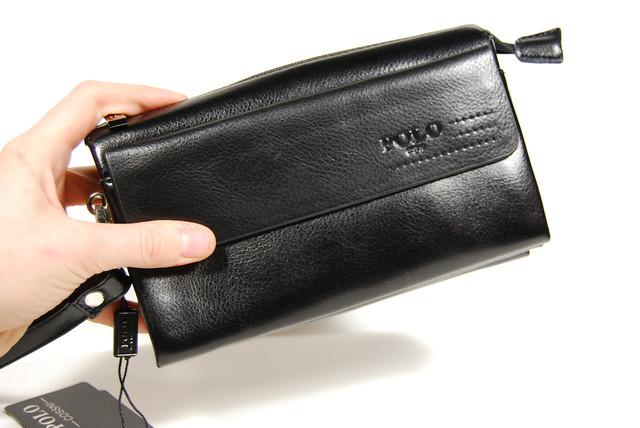 Стильный клатч ПОЛО, борсетка, портмоне для мужчин. Мужское портмоне. Стильный клатч. Код: КСЕ44 - фото 6
