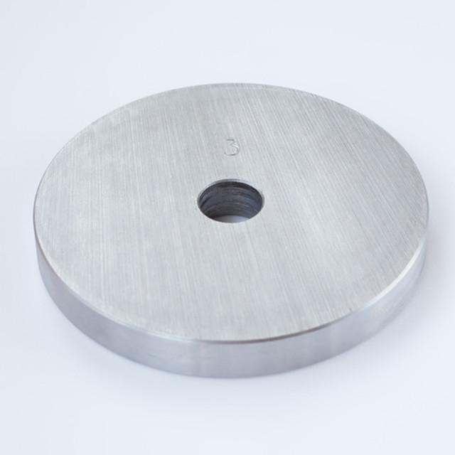 Блин для штанги или гантелей 3 кг металлический (диски утяжелители, млинець металевий) - фото 1