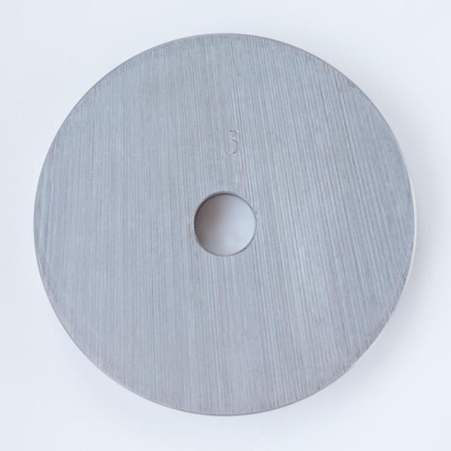 Блин для штанги или гантелей 3 кг металлический (диски утяжелители, млинець металевий) - фото 2