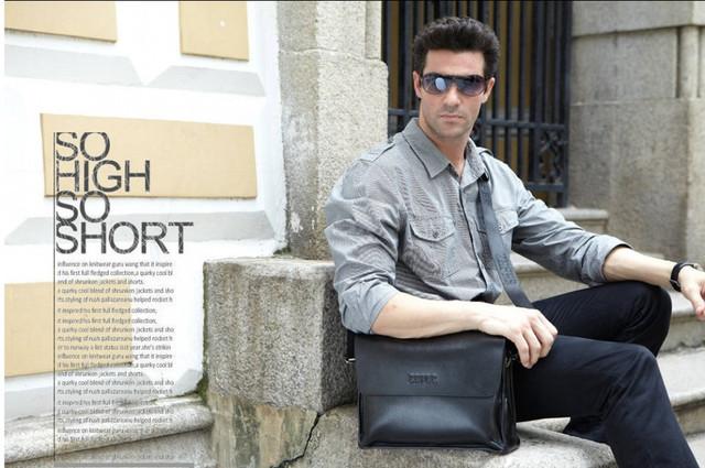 Кожаная мужская сумка портфель ЗЕФЕР А4. Сумки для мужчин. Модные сумки. Офисные сумки. Код: КСДЕ24-2 - фото 6