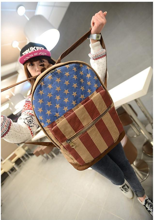 Модный рюкзак. Повседневный  рюкзак. Рюкзаки унисекс. Флаг сша и великобритании . Современный. Код: КРСК2 - фото 6