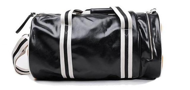Спортивная сумка Fred Perry. Мужская сумка через плече. Сумка для спорта. Сумка мешок. Кожаная сумка. Код: КСС1-1 - фото 4