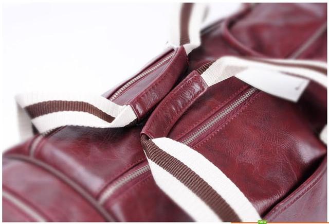 Спортивная сумка Fred Perry. Мужская сумка через плече. Сумка для спорта. Сумка мешок. Кожаная сумка. Код: КСС1-1 - фото 6