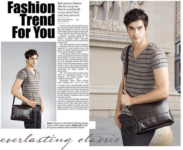 Кожаная мужская сумка портфель ПОЛО А4. Сумки для мужчин. Модные сумки. Офисные сумки. Код: КСЕ46-1 - фото 5