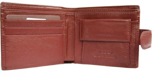 Кожаный мужской кошелек, портмоне, бумажник из кожи. Качество. НАТУРАЛЬНАЯ КОЖА! Код: КСЕ10 - фото 5