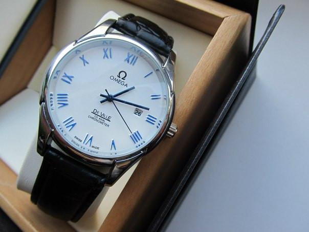 Часы мужские Omega. Магазин мужских часов. Японский механизм. Наручные часы. Кварцевые часы. Код: КЧ9. - фото 4