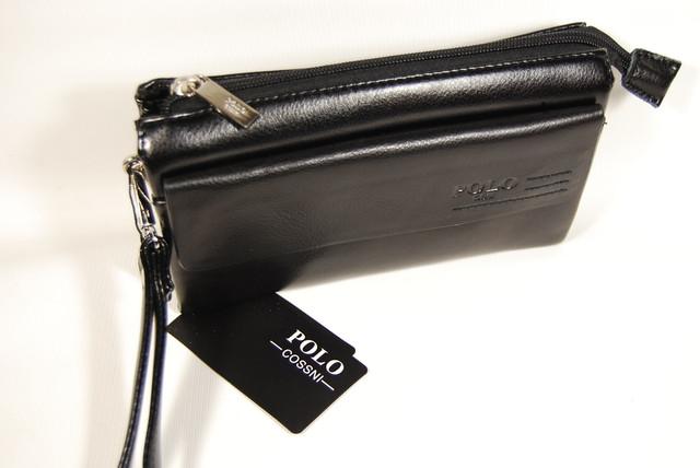Стильный клатч ПОЛО, борсетка, портмоне для мужчин. Мужское портмоне. Стильный клатч. Код: КСЕ44 - фото 3