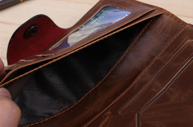 Хит продаж! Мужской кожаный кошелек, портмоне, бумажник. Кошельки для мужчин БАИЛИНИ. Лучший подарок. Код: КСЕ120 - фото 4