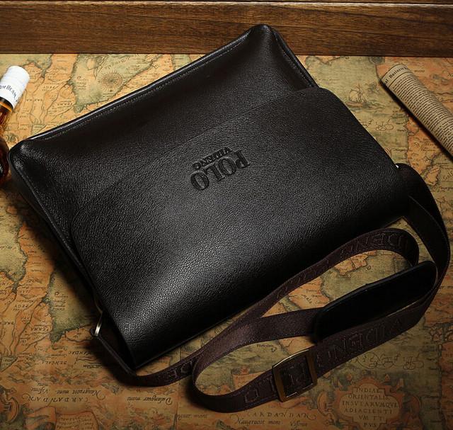 Кожаная мужская сумка портфель ПОЛО А4. Сумки для мужчин. Модные сумки. Офисные сумки. Код: КСЕ46-1 - фото 6