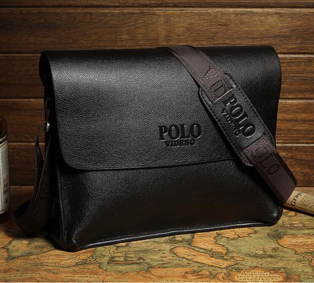 Кожаная мужская сумка портфель ПОЛО А4. Сумки для мужчин. Модные сумки. Офисные сумки. Код: КСЕ46-1 - фото 7