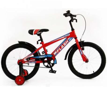 """Детский двухколесный велосипед Flash 16"""" салатовый и красный - фото 2"""