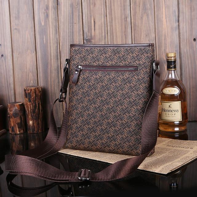 Мужская кожаная сумка. Высокое качество сумки. Удобная стильная сумка. Сумки через плече. Код: КС27-4 - фото 1