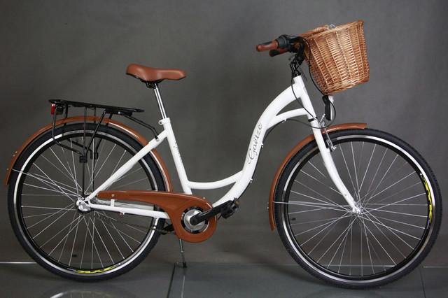 "Велосипед городской 28"" Goetze 3 передачи Shimano + LED фары + корзина - фото 4"
