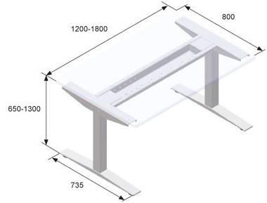 Регулируемый по высоте стол, Suspa ELS 3 - фото 3