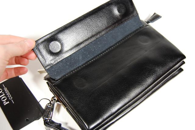 Стильный клатч ПОЛО, борсетка, портмоне для мужчин. Мужское портмоне. Стильный клатч. Код: КСЕ44 - фото 4