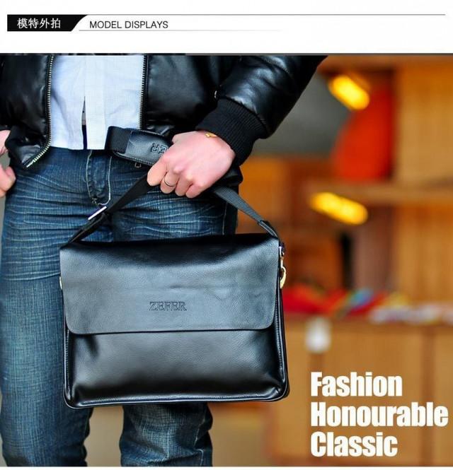 Кожаная мужская сумка портфель ЗЕФЕР А4. Сумки для мужчин. Модные сумки. Офисные сумки. Код: КСДЕ24-2 - фото 1