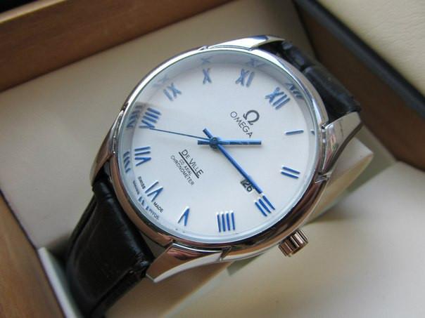 Часы мужские Omega. Магазин мужских часов. Японский механизм. Наручные часы. Кварцевые часы. Код: КЧ9. - фото 1