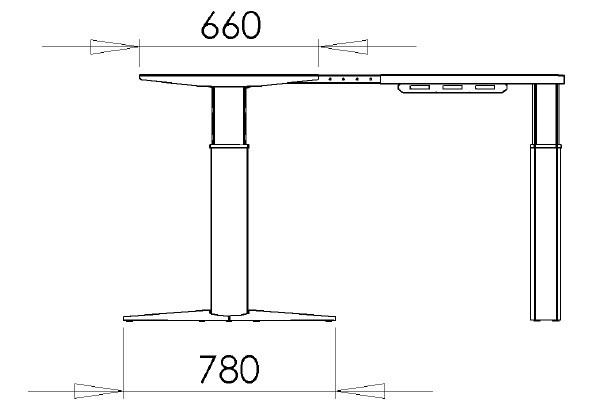 Основа стола, 501-23-7S190 - фото 1