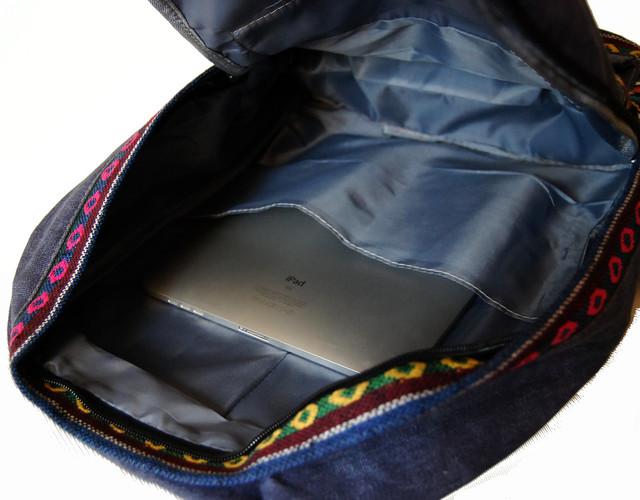 Городской рюкзак. Модный рюкзак-портфель из холста. Современный рюкзак. Рюкзак унисекс. Код: КРСС007 - фото 5