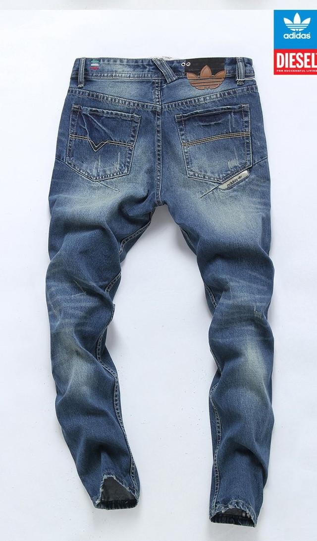 Стильные и модные джинсы Diesel Adidas. Качественные джинсы. Мужские джинсы. Купить в интернете. Код: КДН990 - фото 2