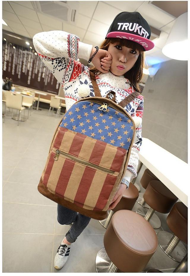 Модный рюкзак. Повседневный  рюкзак. Рюкзаки унисекс. Флаг сша и великобритании . Современный. Код: КРСК2 - фото 3
