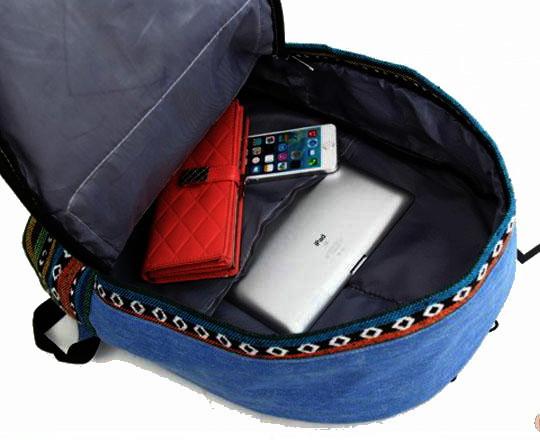 Городской рюкзак. Модный рюкзак-портфель из холста. Современный рюкзак. Рюкзак унисекс. Код: КРСС013 - фото 5