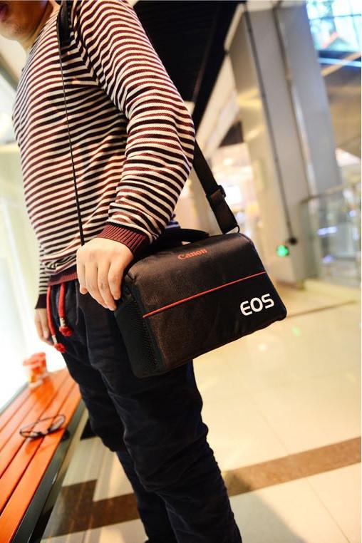 Отличная сумка Canon EOS. Фотосумка Кэнон. Высокое качество. Вместительная сумка. Купить сумку. Код: КДН1079 - фото 14