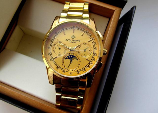 Часы мужские PATEK PHILIPPE. Наручные часы patek philippe geneve. Мужские кварцевые часы. Код: КЧ13 - фото 1