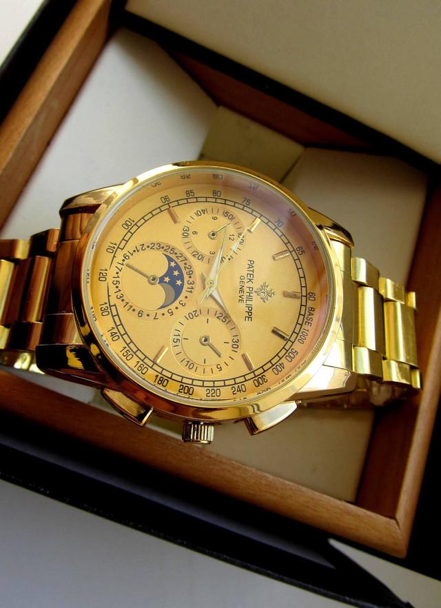 Часы мужские PATEK PHILIPPE. Наручные часы patek philippe geneve. Мужские кварцевые часы. Код: КЧ13 - фото 2
