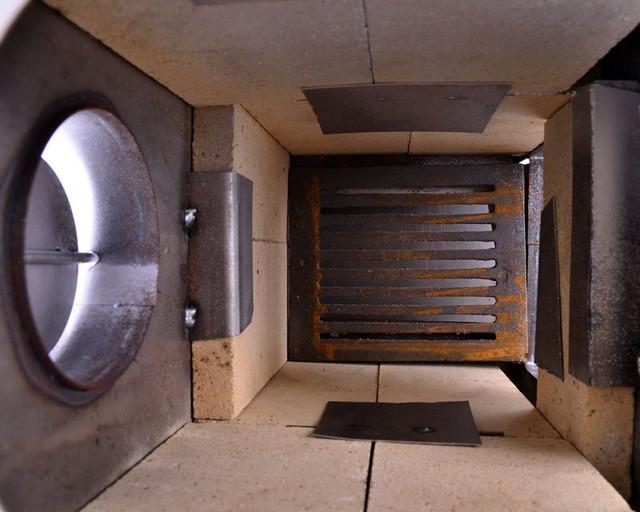 Печь буржуйка стальная 170 м2 9 шамотных кирпичей (шамотная піч стальна шамотної цегли) - фото 5