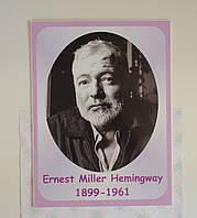 Ernest Miller Hemingway. Портреты английских поэтов и писателей 25х33 см