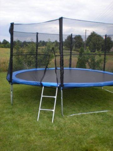 Батут FunFit 312 см для детей и взрослых с защитной сеткой и лестницей (батут для дорослих та дітей з сіткою) - фото 1