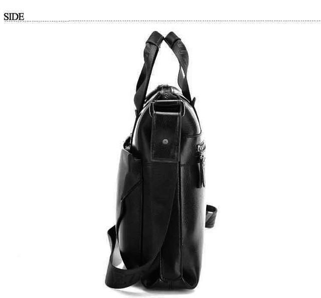 Стильная Мужская кожаная сумка-портфель ПОЛО. Высокое качество. Портфель для мужчин. КожаPU  Код: КСЕ148 - фото 3
