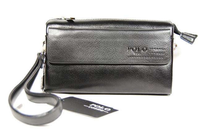 Стильный клатч ПОЛО, борсетка, портмоне для мужчин. Мужское портмоне. Стильный клатч. Код: КСЕ44 - фото 1