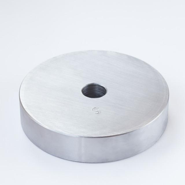 Блин для штанги или гантелей 5 кг металлический (диски утяжелители, млинець металевий) - фото 1