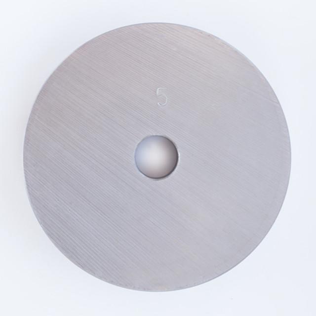 Блин для штанги или гантелей 5 кг металлический (диски утяжелители, млинець металевий) - фото 2