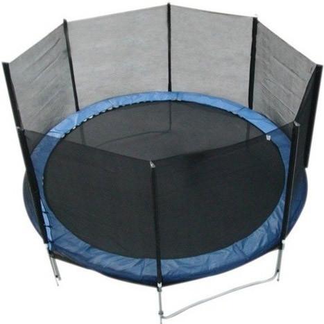 Батут FunFit 374 см для детей и взрослых с защитной сеткой и лестницей (батут для дорослих та дітей з сіткою) - фото 1