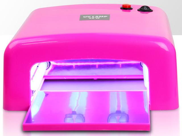 УФ-лампа для сушки ногтей розовая для маникюра (лампа для манікюру, сушіння нігтів, рожева) - фото 2