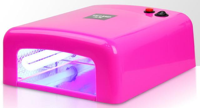 УФ-лампа для сушки ногтей розовая для маникюра (лампа для манікюру, сушіння нігтів, рожева) - фото 1