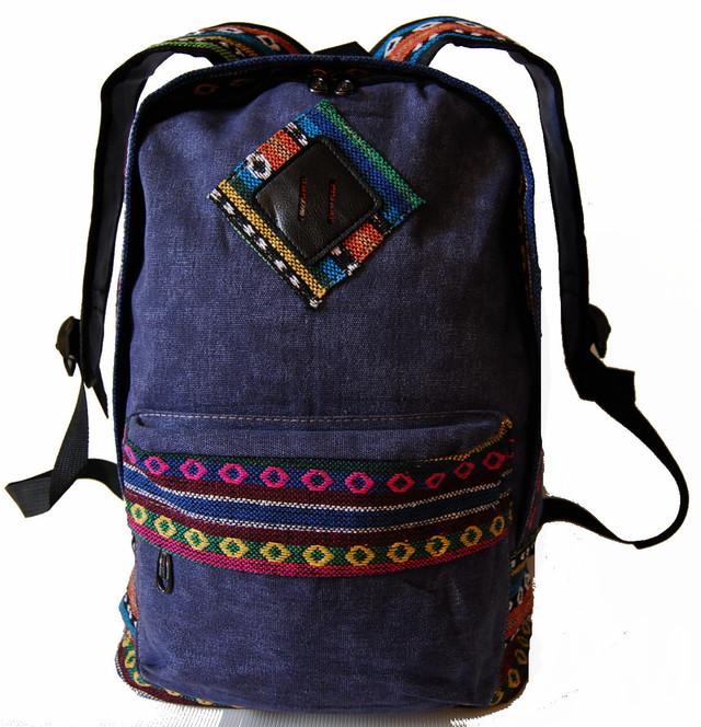 Городской рюкзак. Модный рюкзак-портфель из холста. Современный рюкзак. Рюкзак унисекс. Код: КРСС007 - фото 6