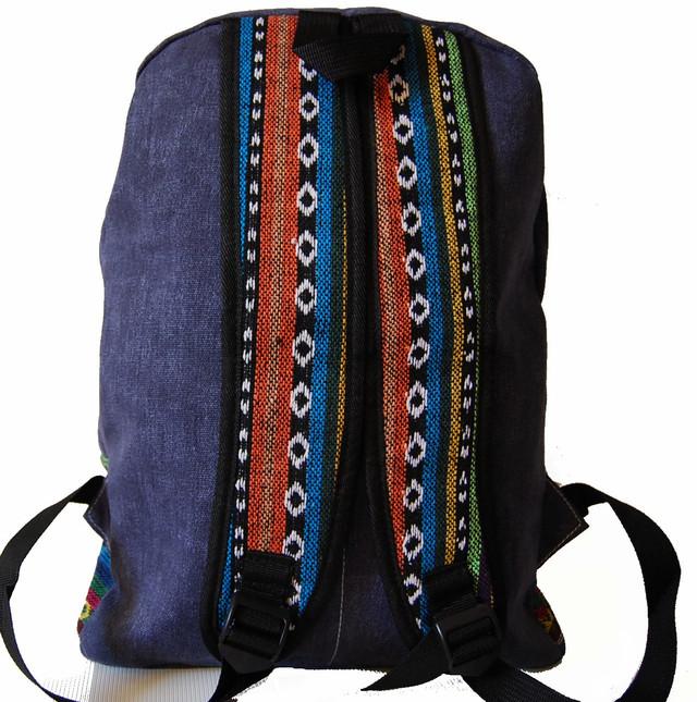 Городской рюкзак. Модный рюкзак-портфель из холста. Современный рюкзак. Рюкзак унисекс. Код: КРСС007 - фото 4