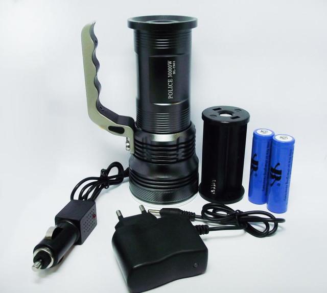 Тактический прожектор POLICE BL-T801. Современный супермощный фонарь. 3 режима. Прочный  корпус. Код: КТМТ167 - фото 5