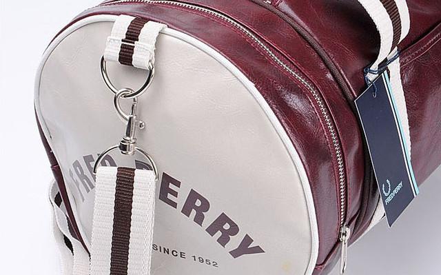 Спортивная сумка Fred Perry. Мужская сумка через плече. Сумка для спорта. Сумка мешок. Кожаная сумка. Код: КСС1-1 - фото 3