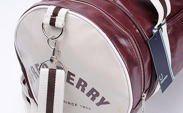 Спортивная сумка Fred Perry. Мужская сумка через плече. Сумка для спорта. Сумка мешок. Кожаная сумка. Код: КСС1-1 - фото 2