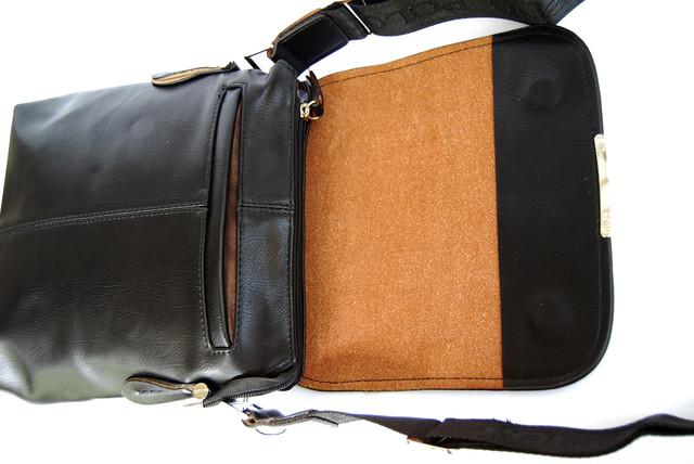 Хит продаж 2015г !! Стильная Мужская кожаная сумка ПОЛО. Кожаная сумка ПОЛ Сумка на подарок мужчине. Код: КСЕ99 - фото 4