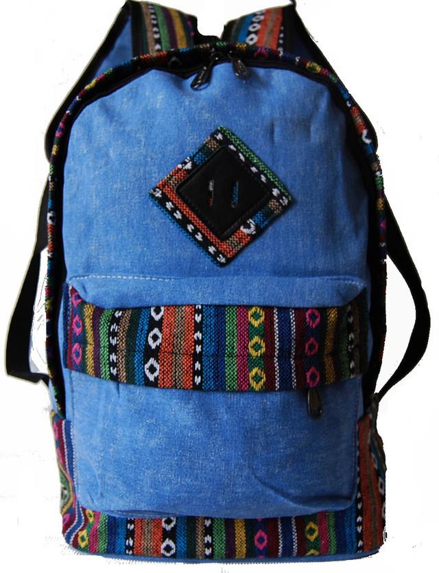 Городской рюкзак. Модный рюкзак-портфель из холста. Современный рюкзак. Рюкзак унисекс. Код: КРСС013 - фото 4