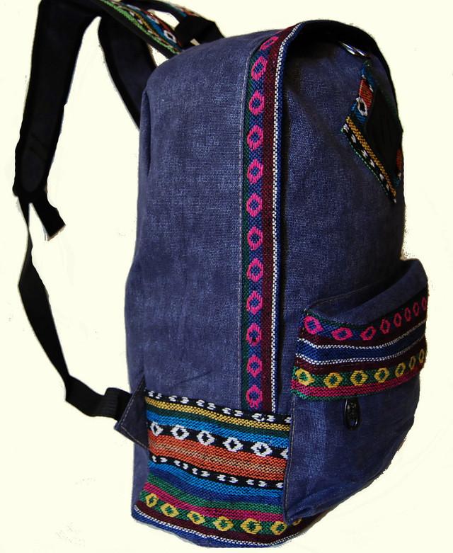 Городской рюкзак. Модный рюкзак-портфель из холста. Современный рюкзак. Рюкзак унисекс. Код: КРСС007 - фото 2