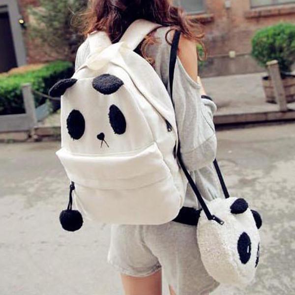 Городской стильный рюкзак. Повседневный  рюкзак. Рюкзак панда. Современные рюкзаки. Код: КРСК45 - фото 1