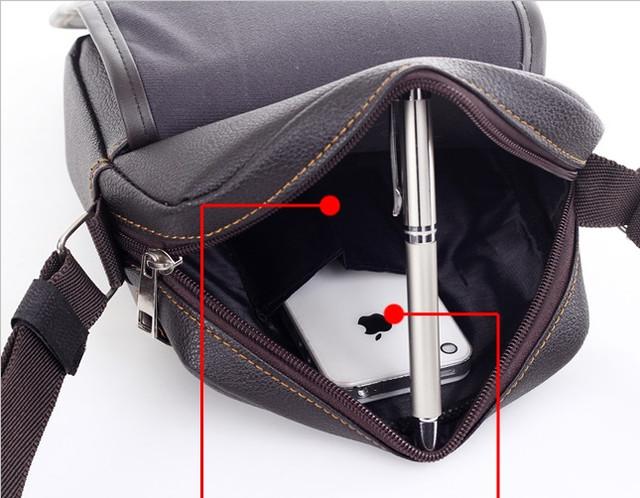Мужская кожаная сумка. Офисный портфель. Недорогая сумка. Качественная сумка. Код: КСД41. - фото 3